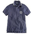 Ralph Lauren Wimbledon Crest Polo Shirt Solid Mesh - French Navy47051