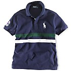 Ralph Lauren Polo Shirt Mesh Fancy - French Navy