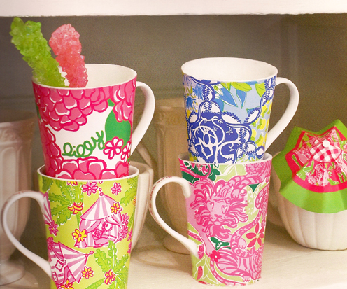 Lilly Pulitzer Latte-Da! Mugs
