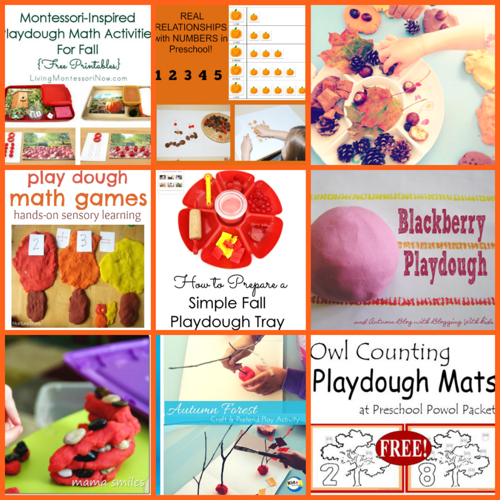 60 Play Dough Fall Winter Centers And Activities For