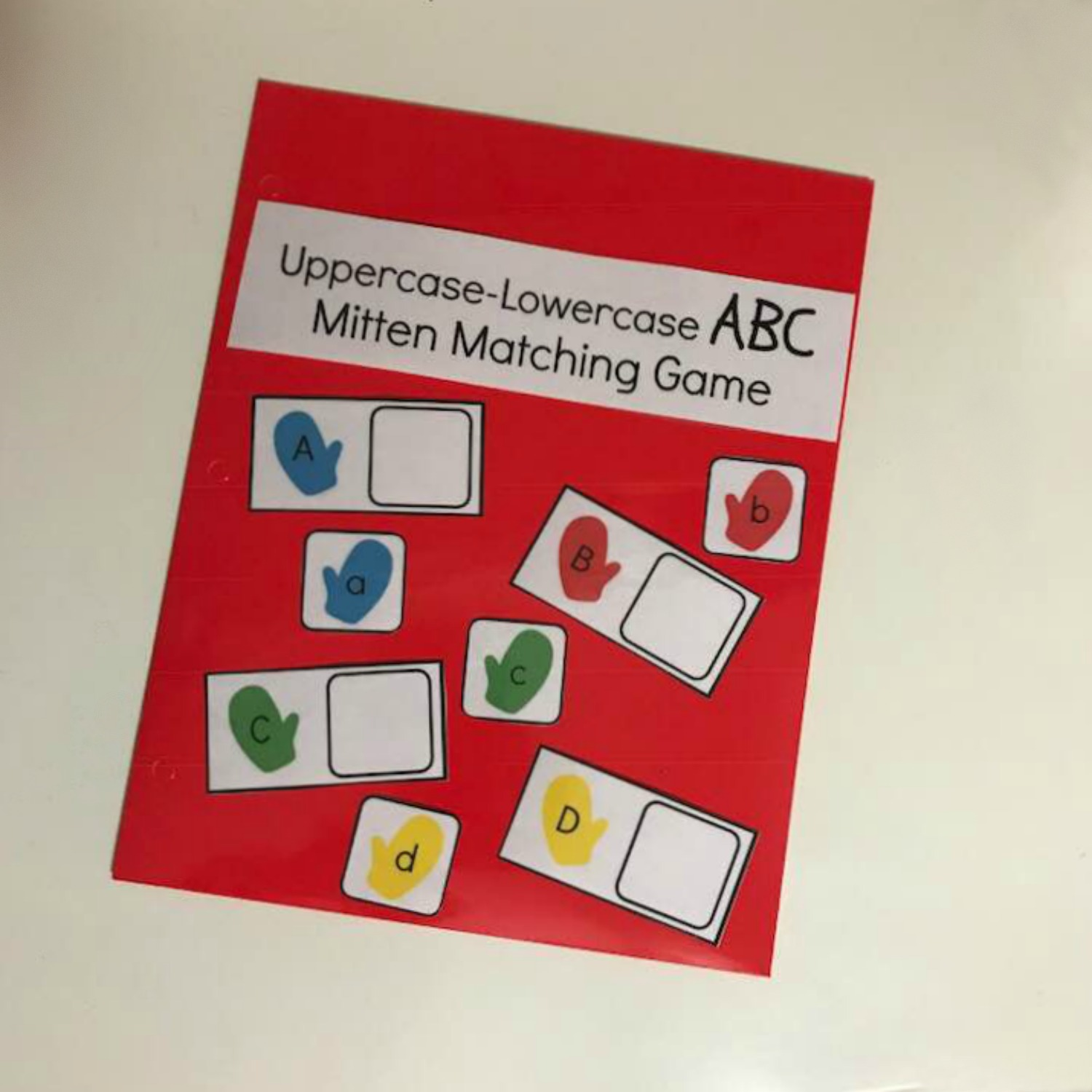 Mitten Alphabet Upper And Lowercase Matching Activity For