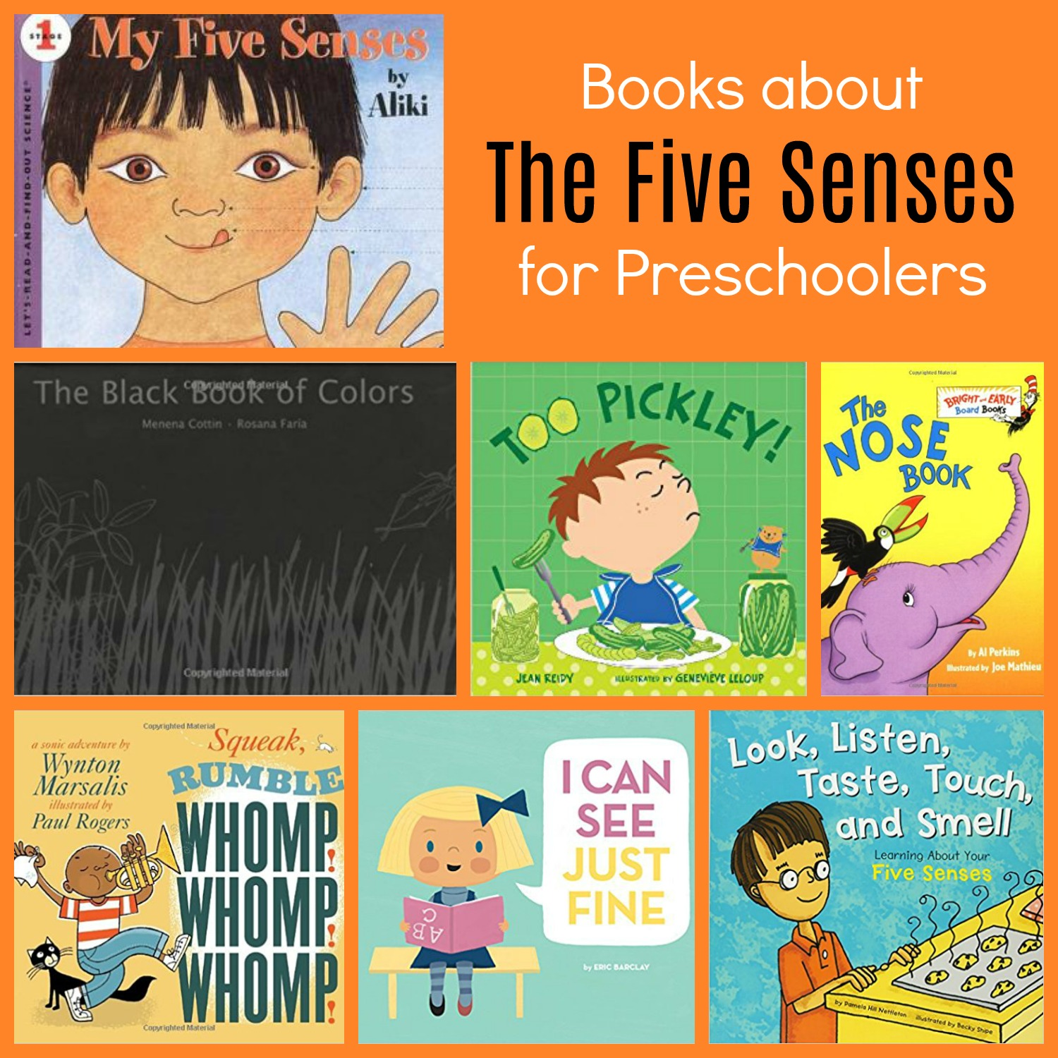 Exploring All 5 Senses In Preschool Sorting Activities And Books The Preschool Toolbox Blog