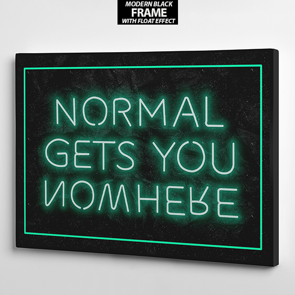 normal gets you nowhere canvas frame