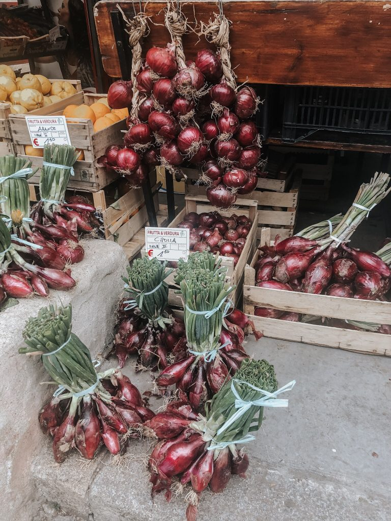 Red onions of Tropea