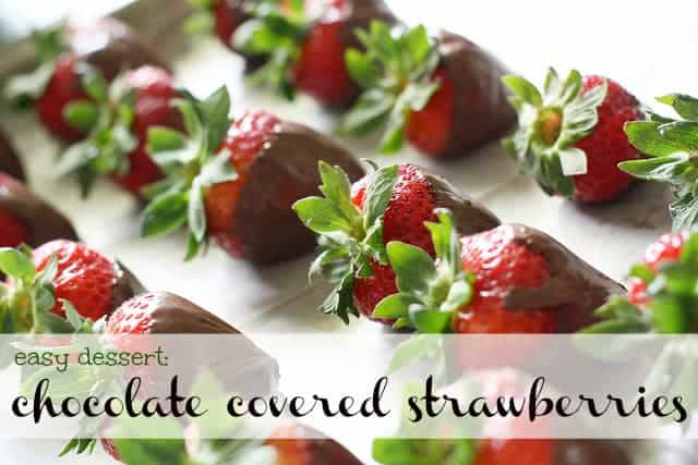 Chocolate Covered Strawberries. - The Pretty Bee