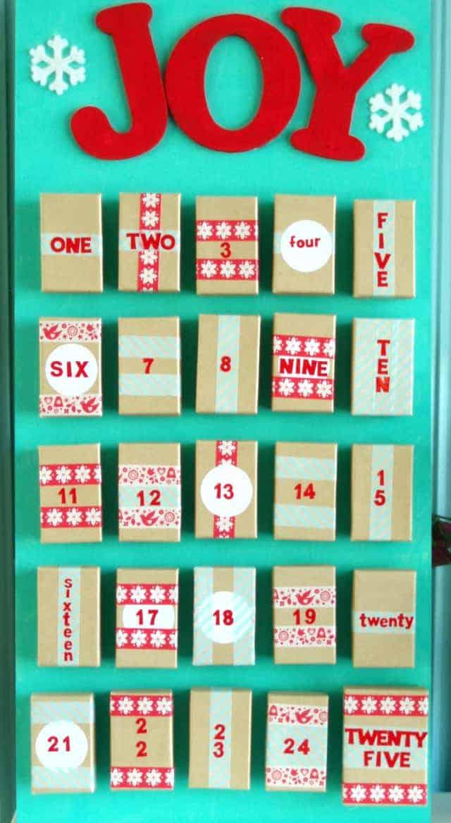 DIY Box Advent Calendar easy and fun to make!