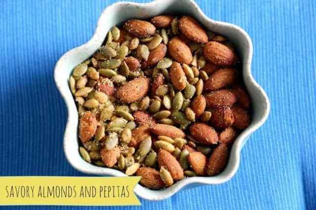 savory almonds and pepitas
