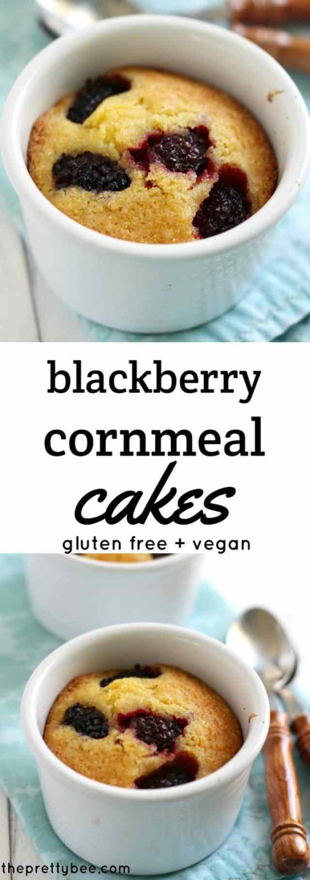 These gluten free blackberry cakes are a delicious summer treat!