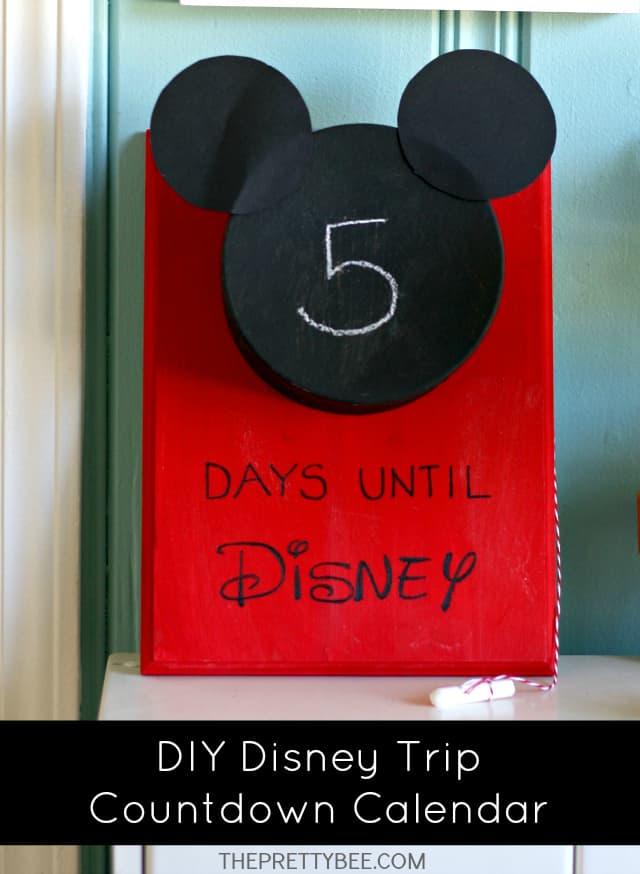 diy disney trip countdown calendar