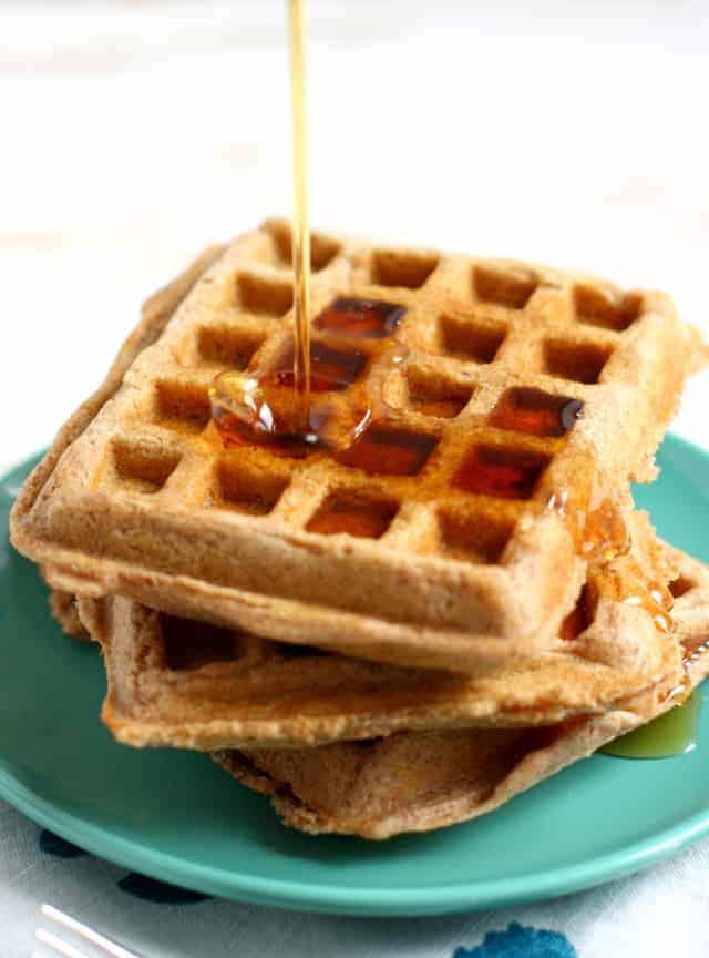 whole grain spelt vegan waffles