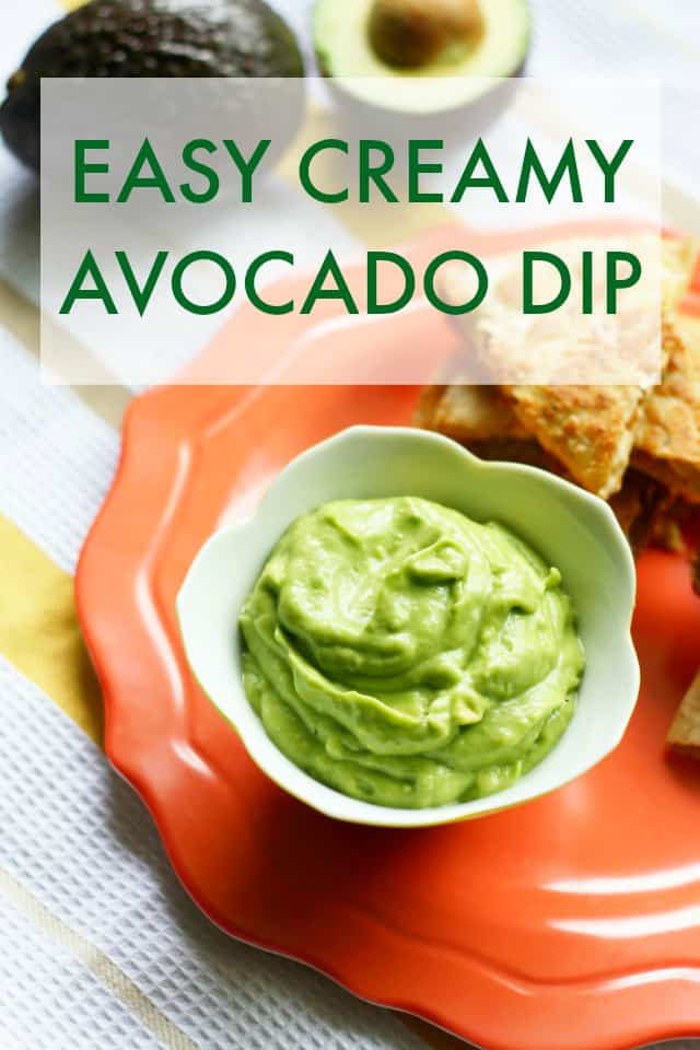 This creamy avocado dip is easy to make and is so delicious! A healthy dip that's very tasty.