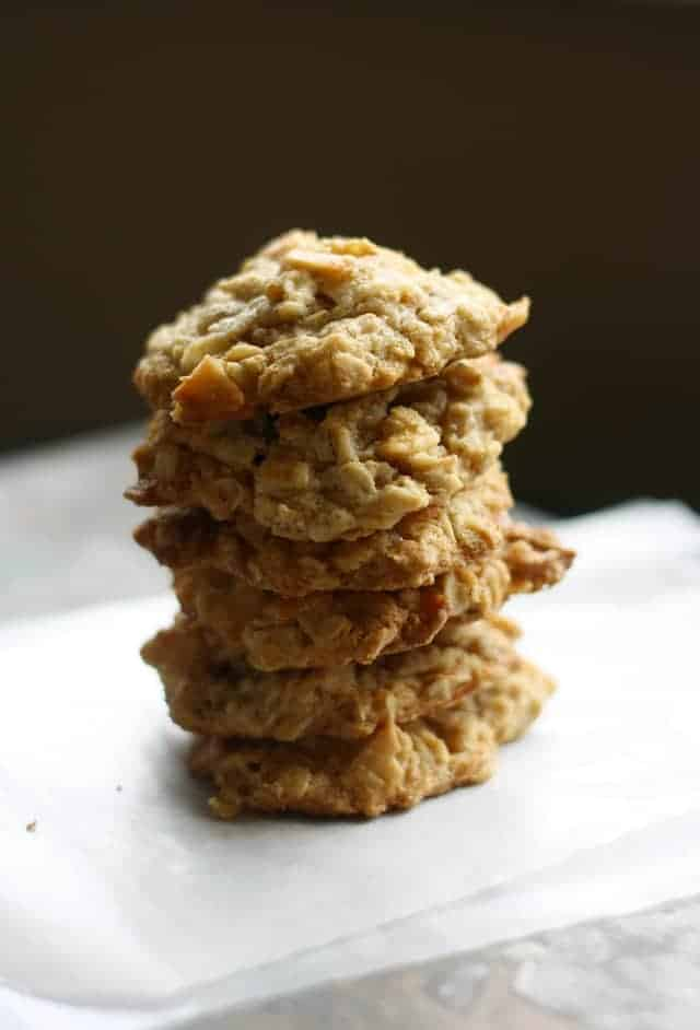 gluten free and vegan toasted coconut oatmeal cookies