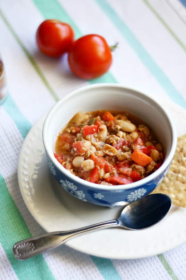 white bean and turkey chili - a healthy chili recipe