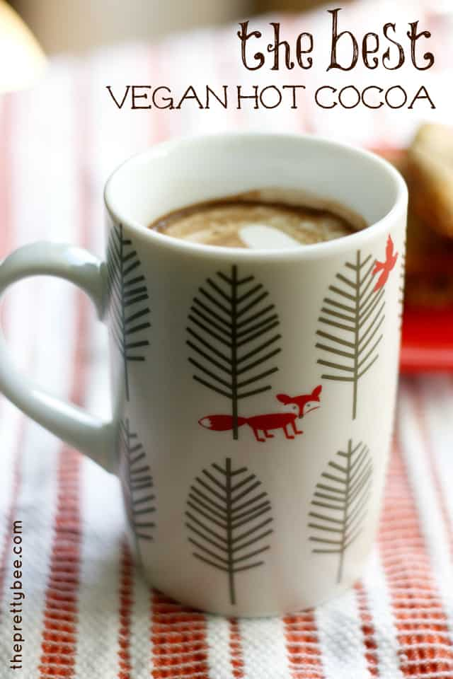 ... figure out how to make yummy vegan cocoa at home. Here's my recipe