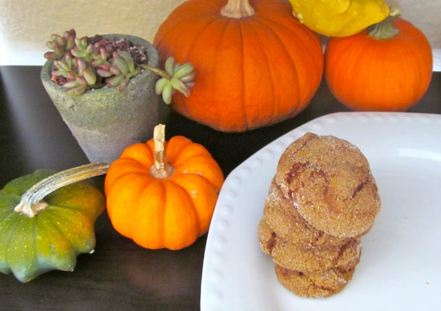 gluten free pumpkin molasses cookies