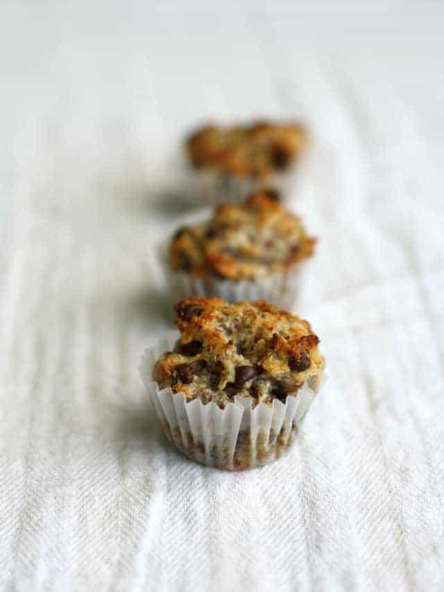 vegan banana almond meal muffins