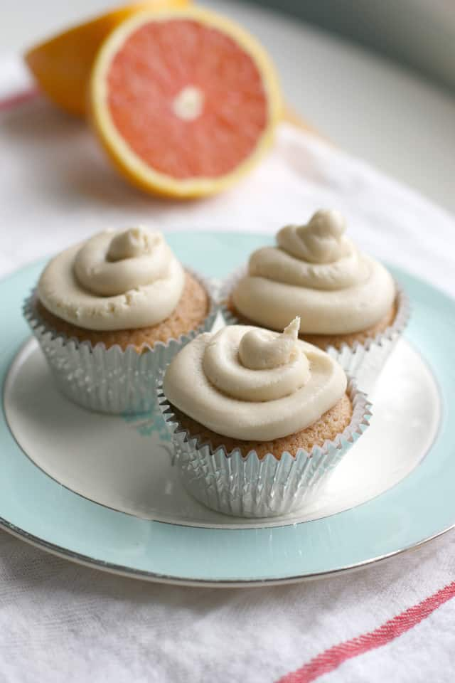 vegan orange cupcakes with creamy frosting