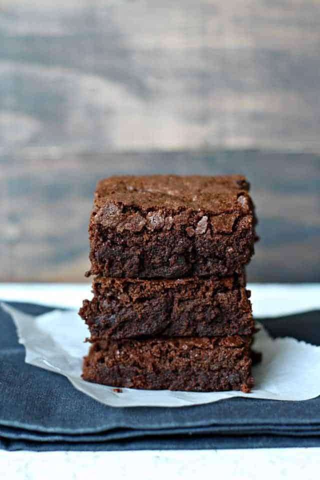 one bowl gluten free brownies