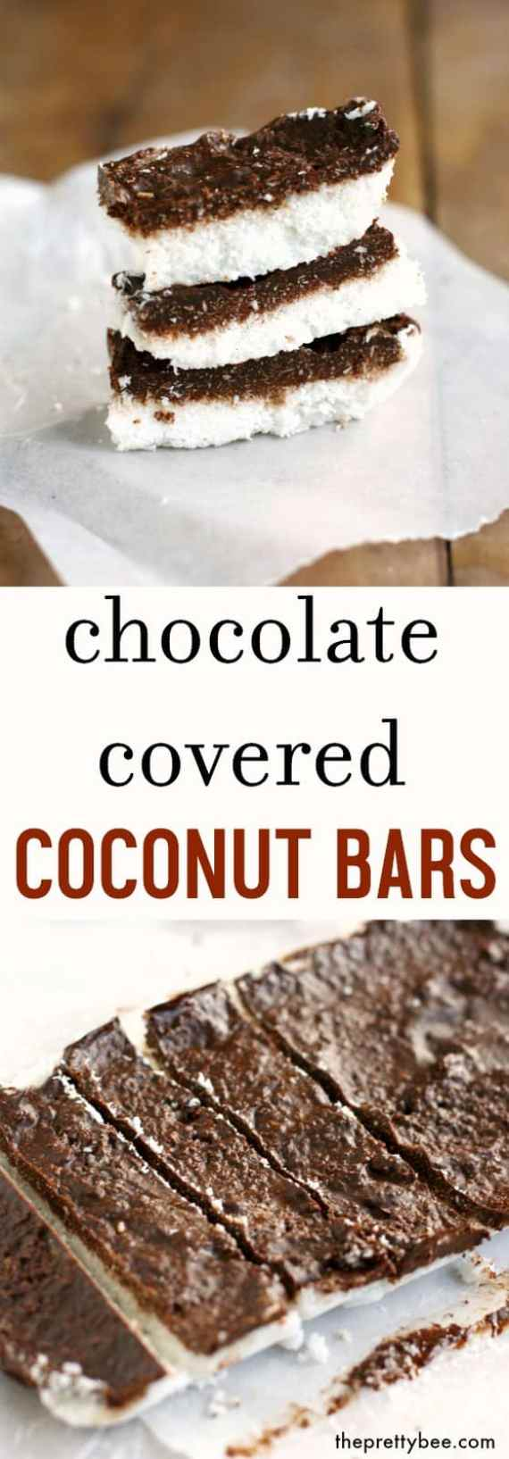 An easy, allergy friendly recipe - chocolate covered coconut bars are delicious and vegan and gluten free!