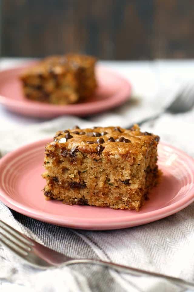 vegan chocolate chip zucchini cake