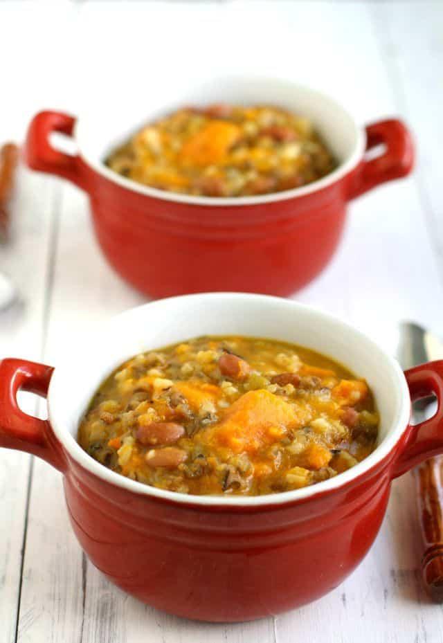crockpot sweet potato wild rice soup