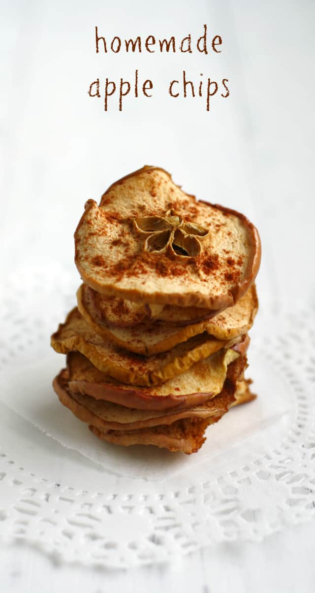 Simple, crispy, and delicious dehydrated apple chips.