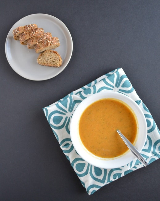 Carrot Sweet Potato Immunity Boosting Soup from Healthy Nibbles and Bits