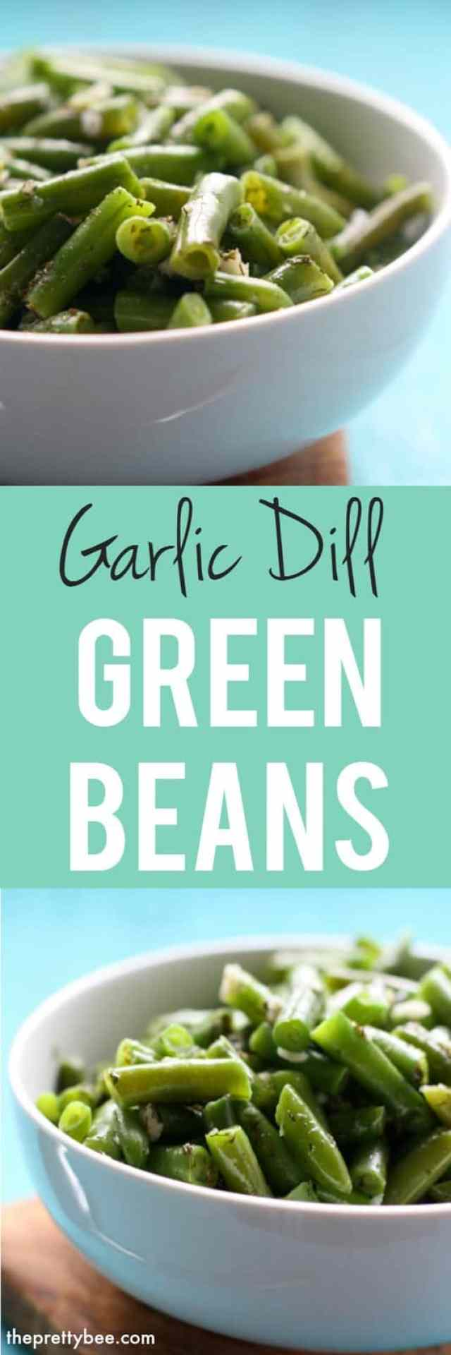 Garlic and dill make these green beans extra flavorful. Fresh or frozen green beans work well in this recipe.