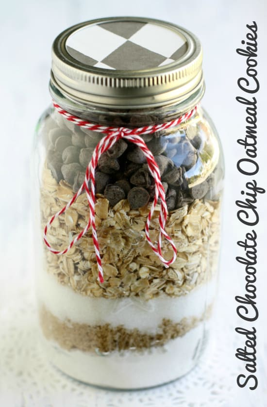 Salted Chocolate Chip Oatmeal Cookie recipe from Gluten Free Gifts in Jars by Kelly Roenicke