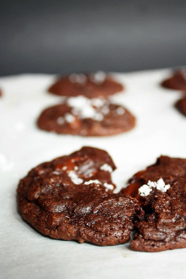 Chocolate Caramel Cookies from How to Philosophize with Cake