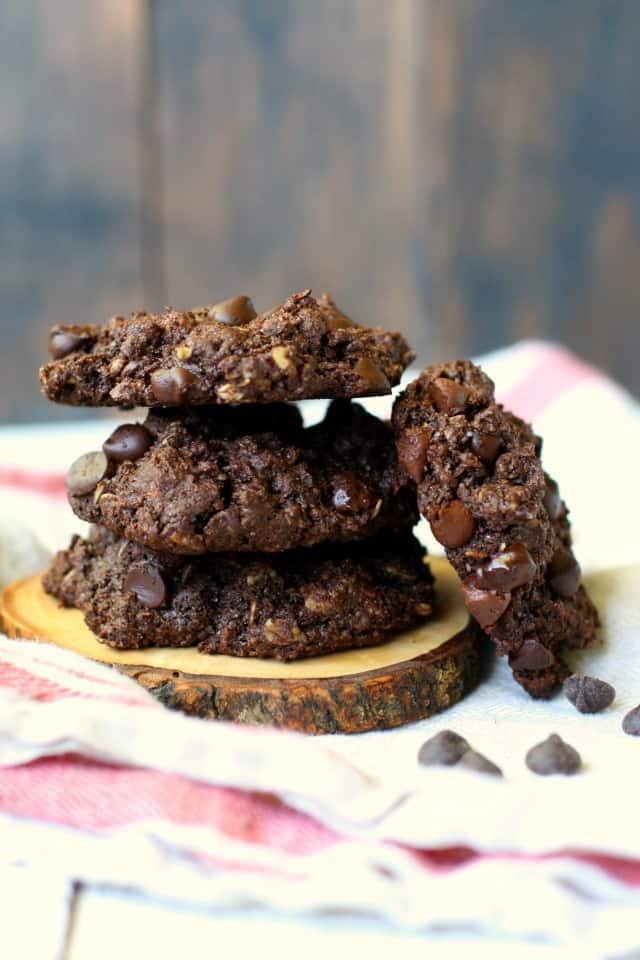 Gluten free chocolate coconut oatmeal cookies