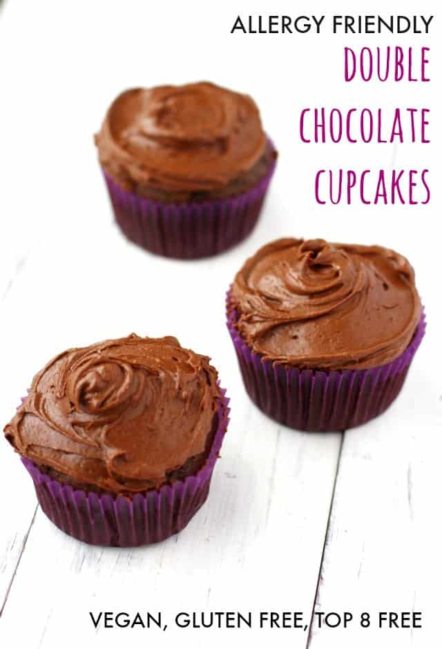 These rich and delicious chocolate cupcakes are free of the top 8 allergens. Perfect for birthday parties.