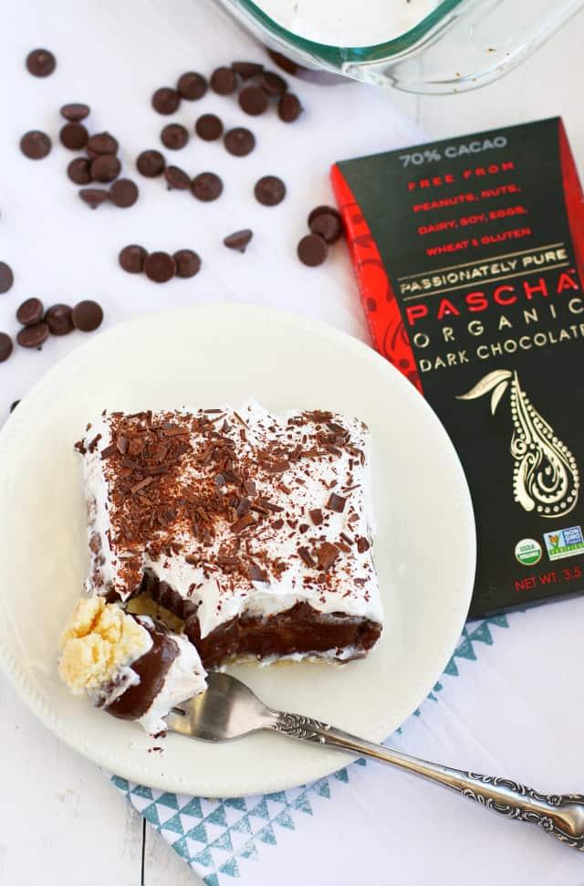 The best chocolate dessert pie - light, fluffy, creamy, and decadent. #sponsored