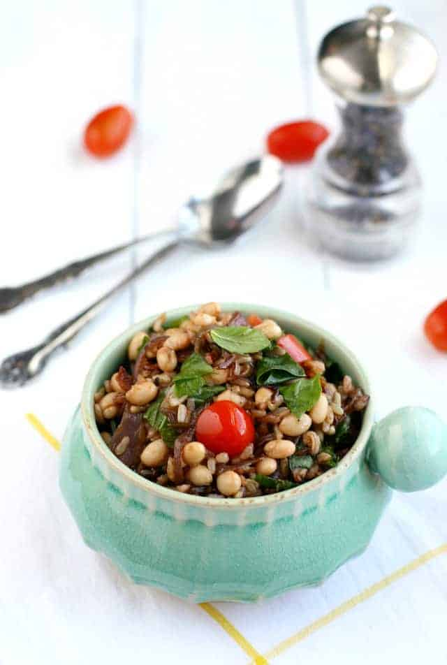 savory wild rice salad