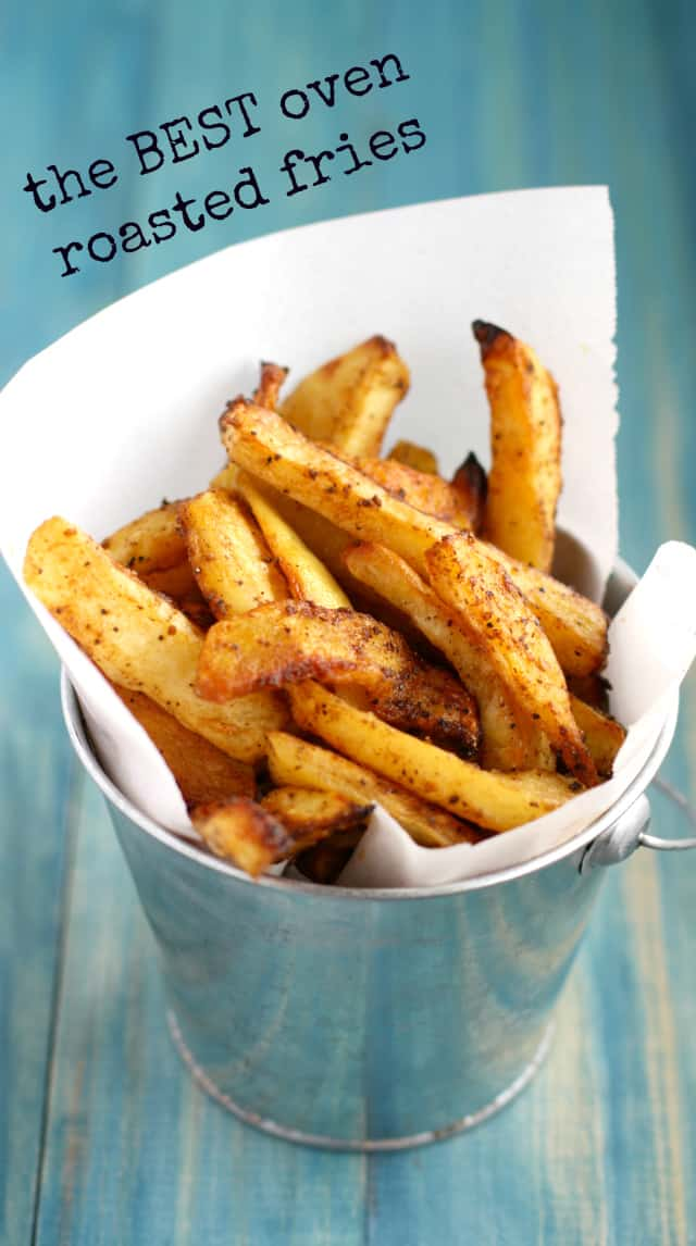 The best oven fries ever! Crisp, tender, and perfectly seasoned.