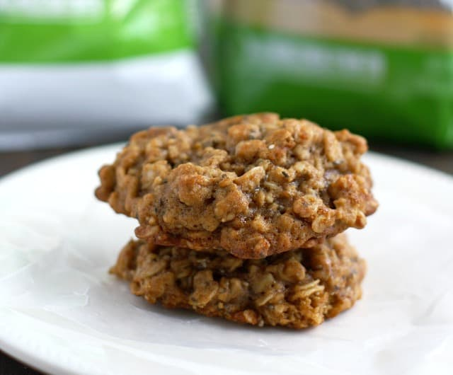 Delicious vegan oatmeal applesauce cookie - perfect for breakfast or a snack! #ad