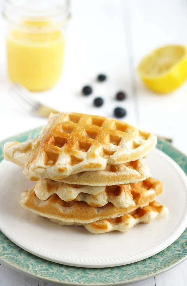 This recipe for vegan waffles is the best! Light, fluffy, and delicious.