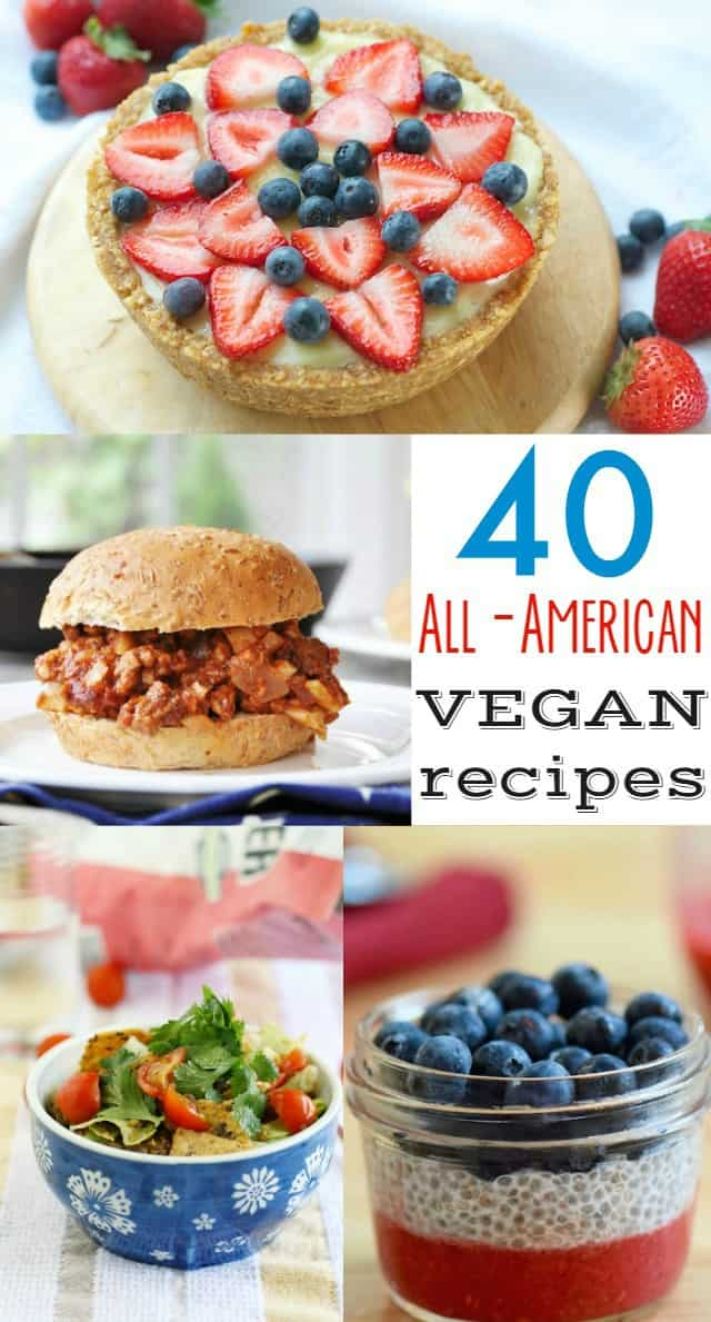 All american vegan recipes the pretty bee 40 delicious all american and patriotic vegan recipes get ready for the 4th of forumfinder Gallery