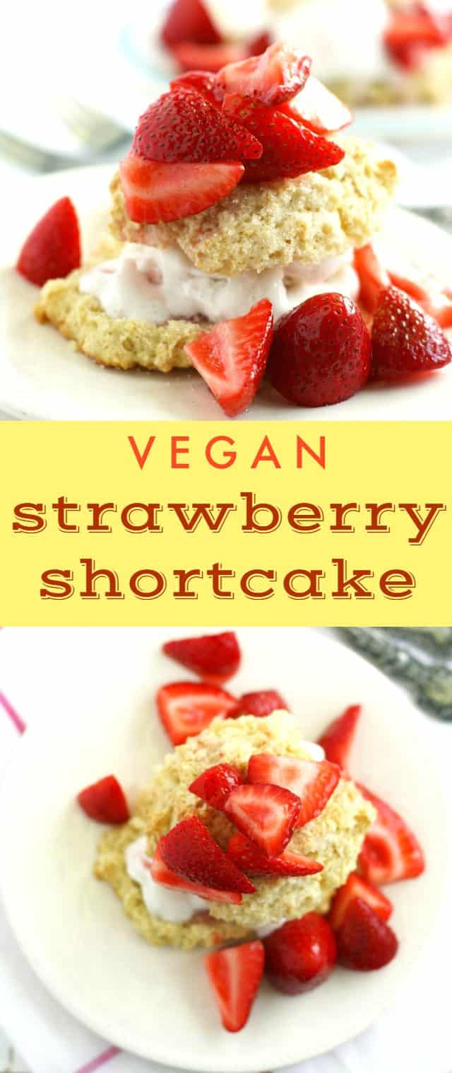 The best summer dinners end with strawberry shortcake! This simple dessert is a big hit! Perfect for summer parties. #strawberry #shortcake