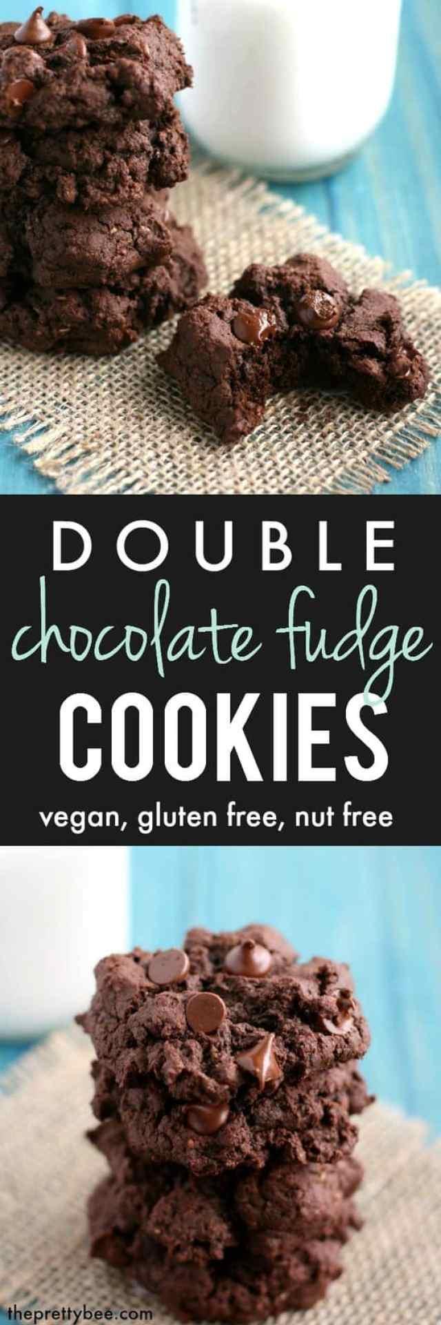 Decadent gluten free double chocolate fudge cookie recipe