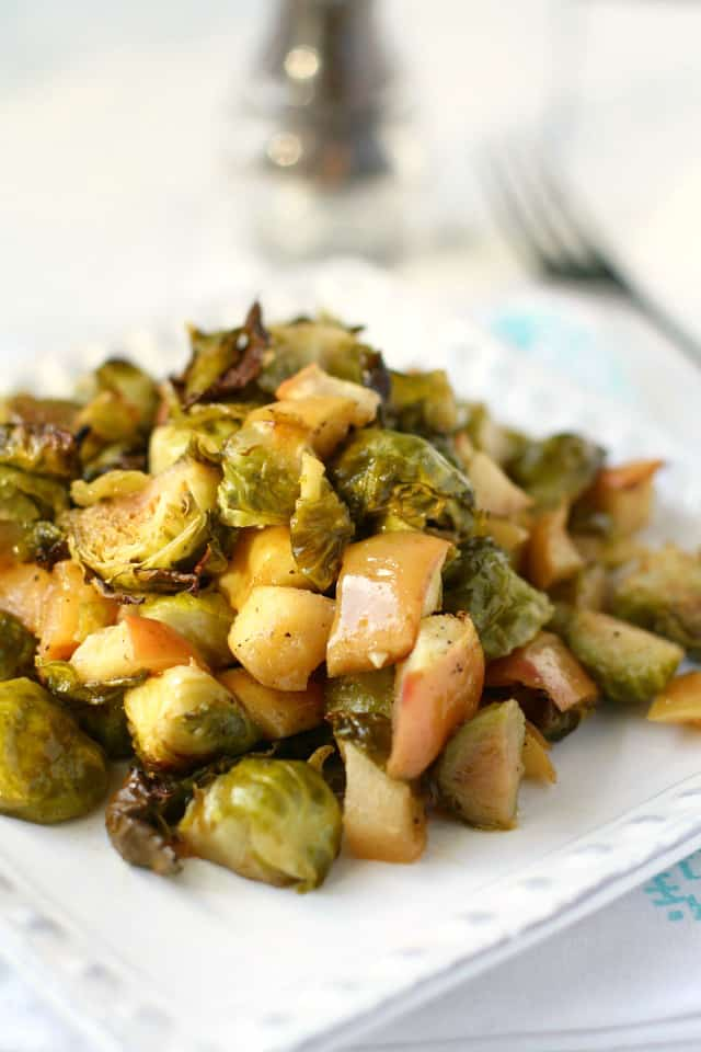 maple mustard roasted Brussels sprouts recipe