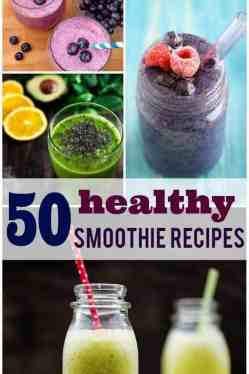 50 healthy smoothie recipes - there's something for everyonein this collection! Start your New Year out on the right foot with these healthy smoothies.
