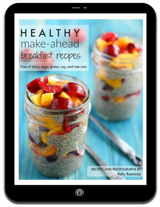 Grab your copy of the Healthy Breakfast ebook and make easy, tasty, healthy breakfast recipes ahead of time!