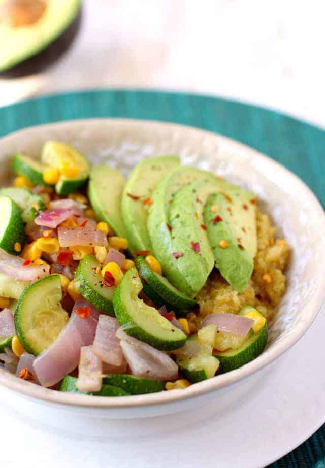 quinoa lunch bowls