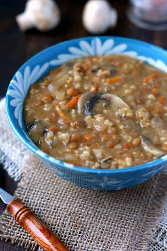 Easy and comforting creamy lentil and wild rice soup is a meal everyone is sure to enjoy!