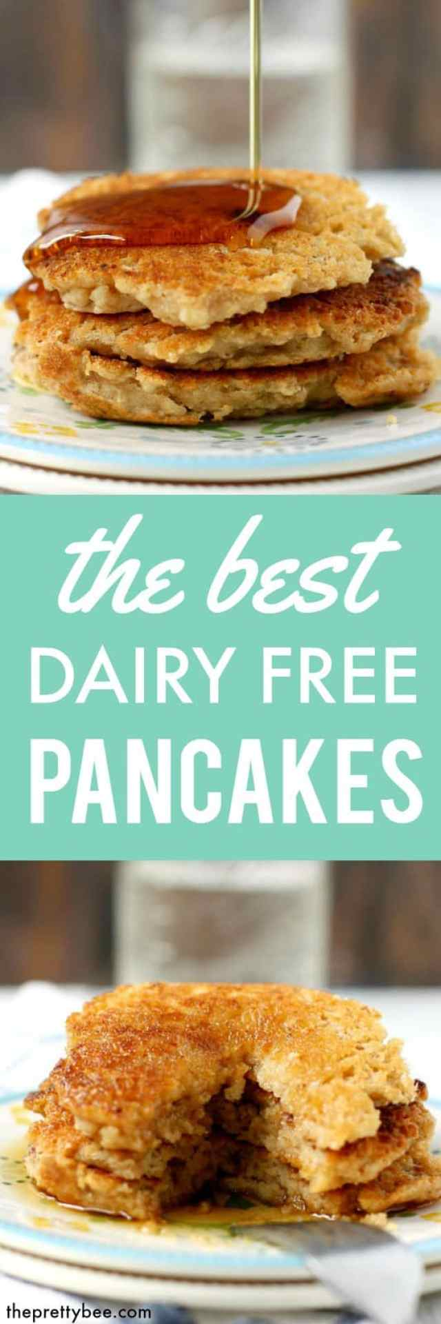Fluffy and light dairy free pancake recipe