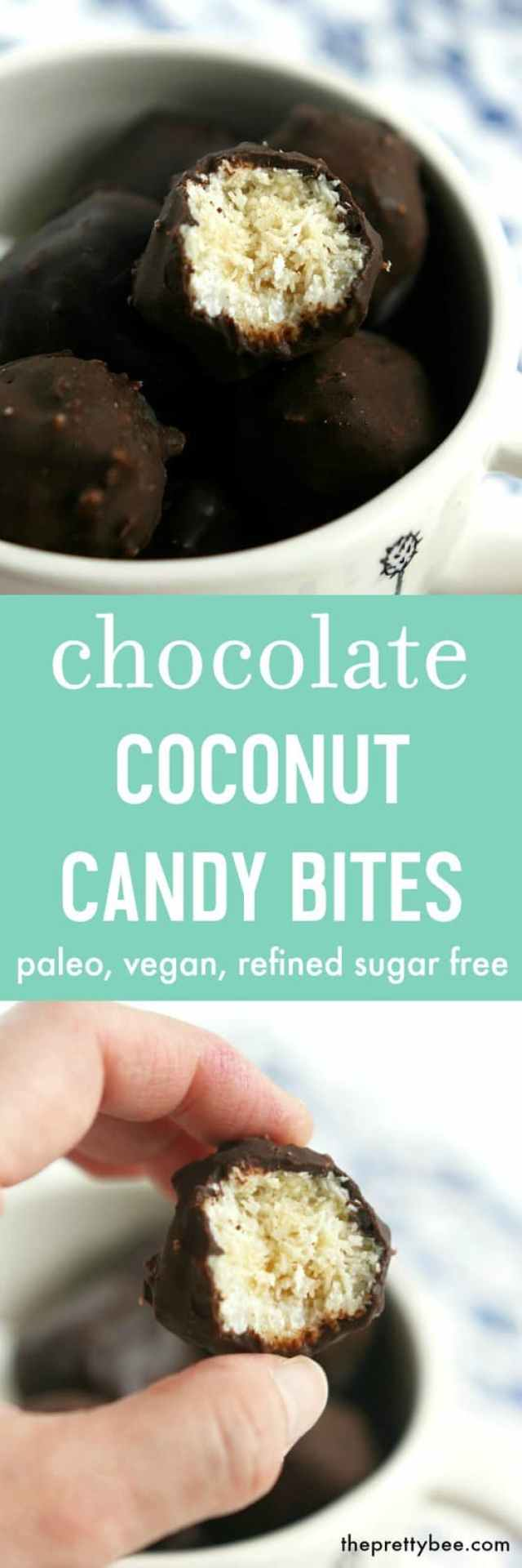 Decadent and delicious, these coconut candy bites are vegan, paleo, and allergy friendly!