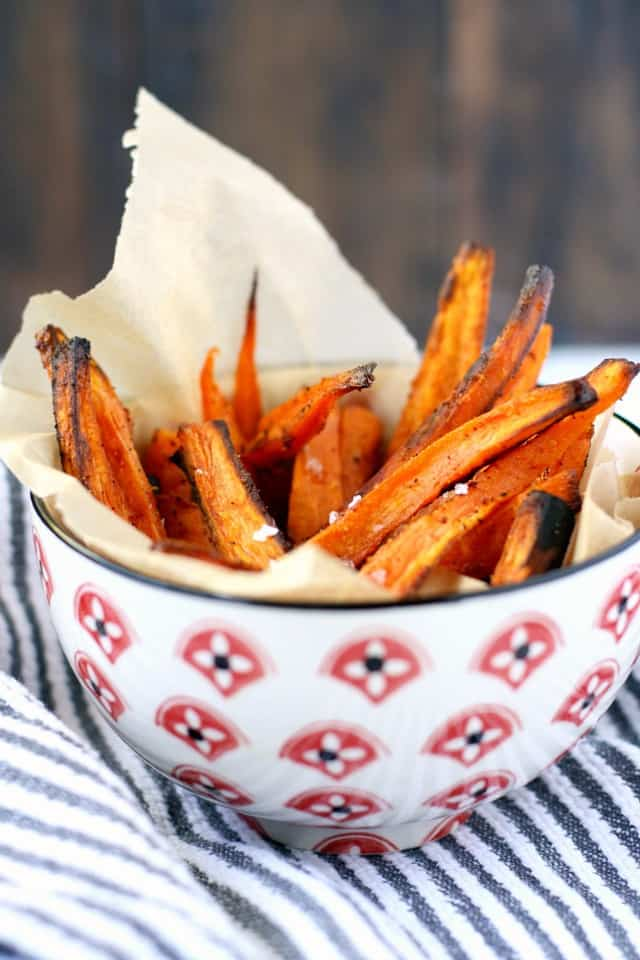 Gluten free and vegan sweet potato fries - tasty and easy to make!