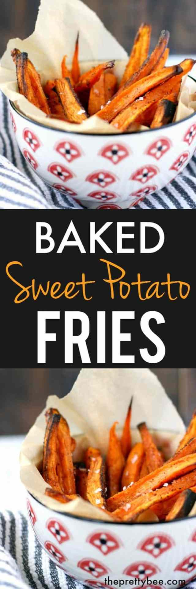 Simple, healthy, delicious sweet potato fries.
