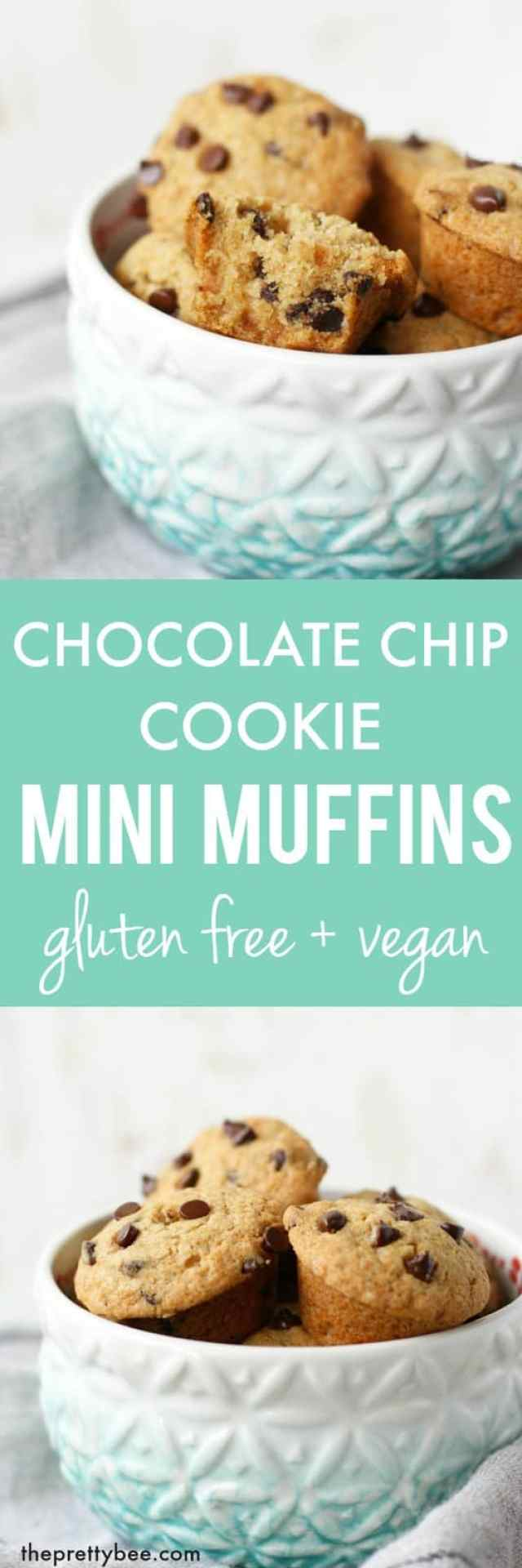 Easy and tasty chocolate chip cookie mini muffin recipe